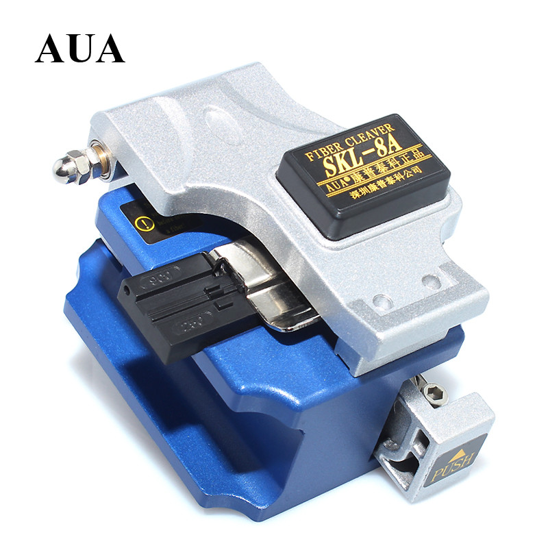 AUA High Precision Metal Fiber Ceaver 16 Surface Blade  Cable Cutter SKL-8A FTTH Fiber Cold Then Hot Melt Universal