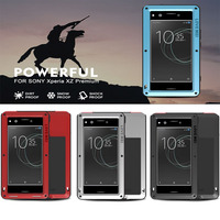 LOVE MEI Extreme Powerful Shockproof Gorilla Glass Silicon Cover Metal Case For SONY Xperia XZ Premium