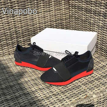 Fashion Luxury Brand Woman Man Couple Shoes Flats shoes Mesh Leather Mixed Colors Lace up Trainer Casual Unisex shoes size 35-46 - DISCOUNT ITEM  40% OFF All Category