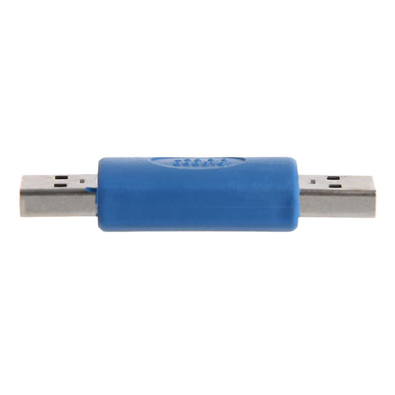 Nuovo USB 3.0 A Maschio A Un Maschio M-M Accoppiatore Adattatore del Connettore Supporto di Trasporto di Goccia