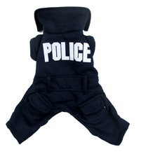 Bajila New Cute Dark blue English police Pet Dogs Coat Dogs clothes