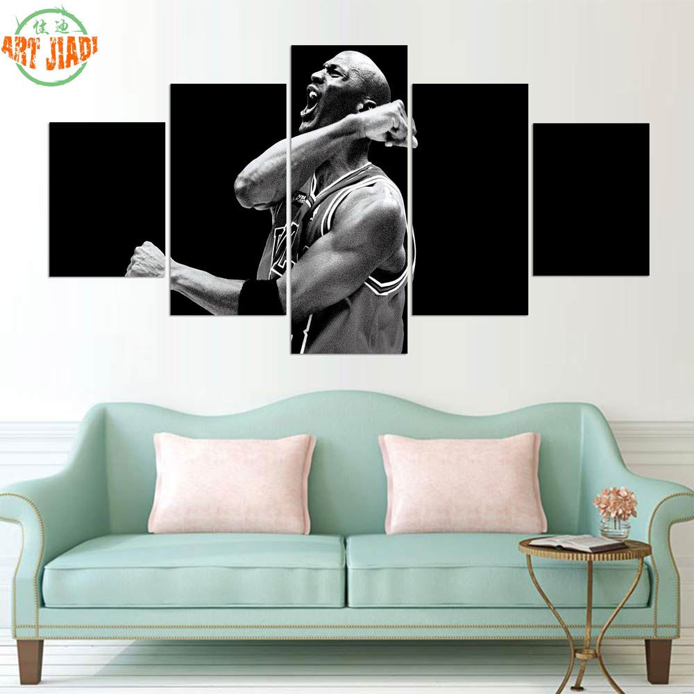 Home Decor Hearty New 4-5 Pieces/sets Canvas Art Canvas Paintings Michael Jordan Basketball Professional Athletes Decorations For Home Wall \r236 Home & Garden