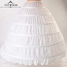 재고 있음 화이트 블랙 볼 가운 6 농구 스커트 Petticoats 신부 웨딩 드레스 공주 Crinoline Underskirt 웨딩 액세서리