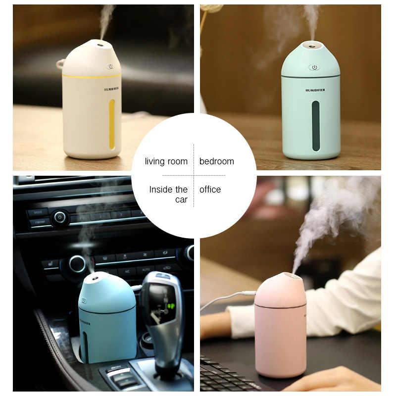 Eboxer USB Humidificadores de Aire LED Mini Humidificador de Aceites Esenciales Difusor de Aroma Ultras/ónicos Port/átiles para el Hogar y Coche Blanco