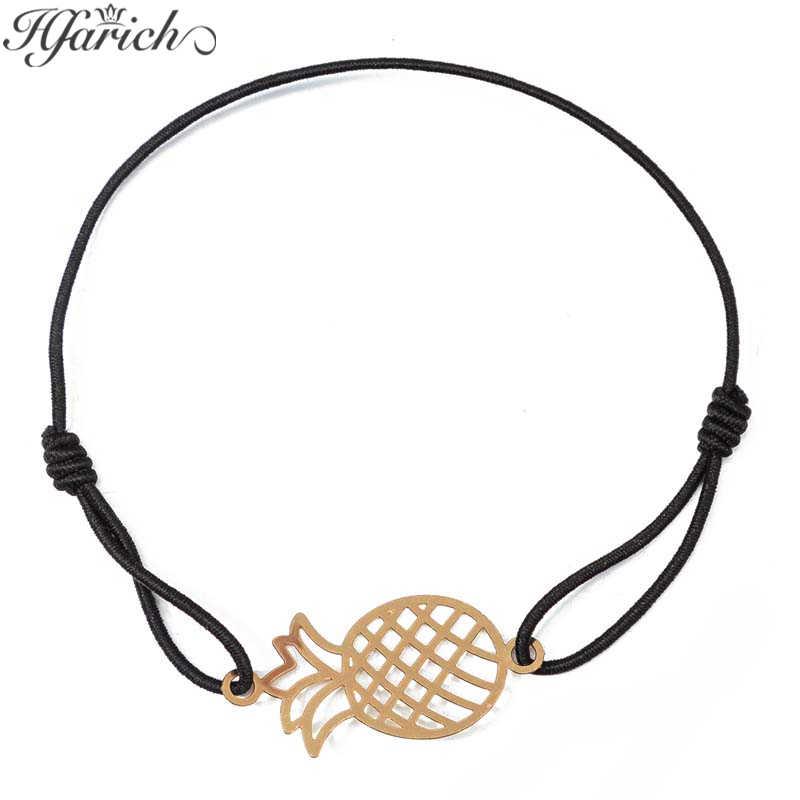 Hfarich אננס צמיד נשי תכשיטי חלולים אננס גדיל שרשרת ידידות צמיד אופנה נשים צמיד לילדה מתנה