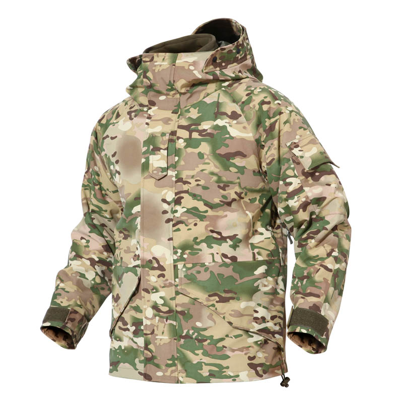 G8 Man Army Camouflage Thick Coat liner Parka Military Tactical Hooded 2in1 Jacket Windbreaker Outwear Tactical