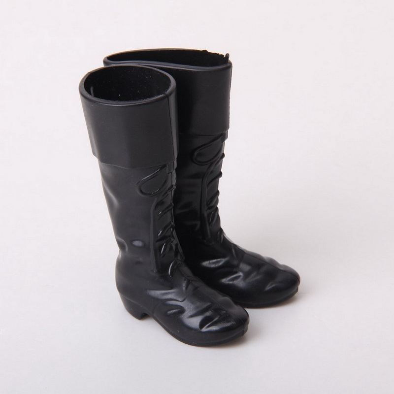 1 Pair New Fashion Hot Ken Prince boyfriend Black Boots Dolls Accessory For Kids Gifts