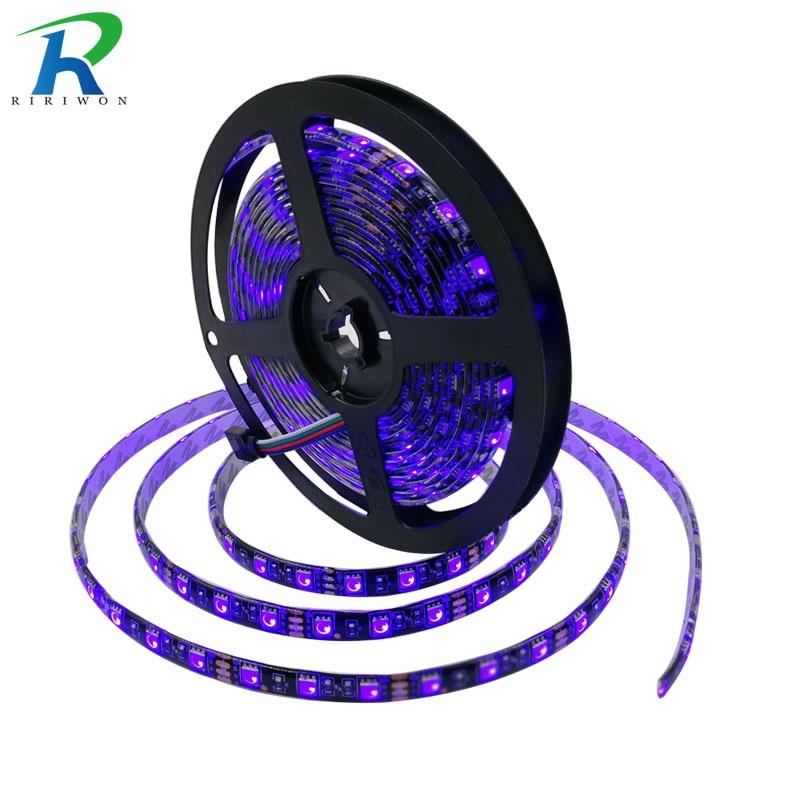 RiRi won BLACK PCB 5m RGB SMD led Strip light 5050 led light led tape diode strip Waterproof 60LEDS/M DC 12V Flexible