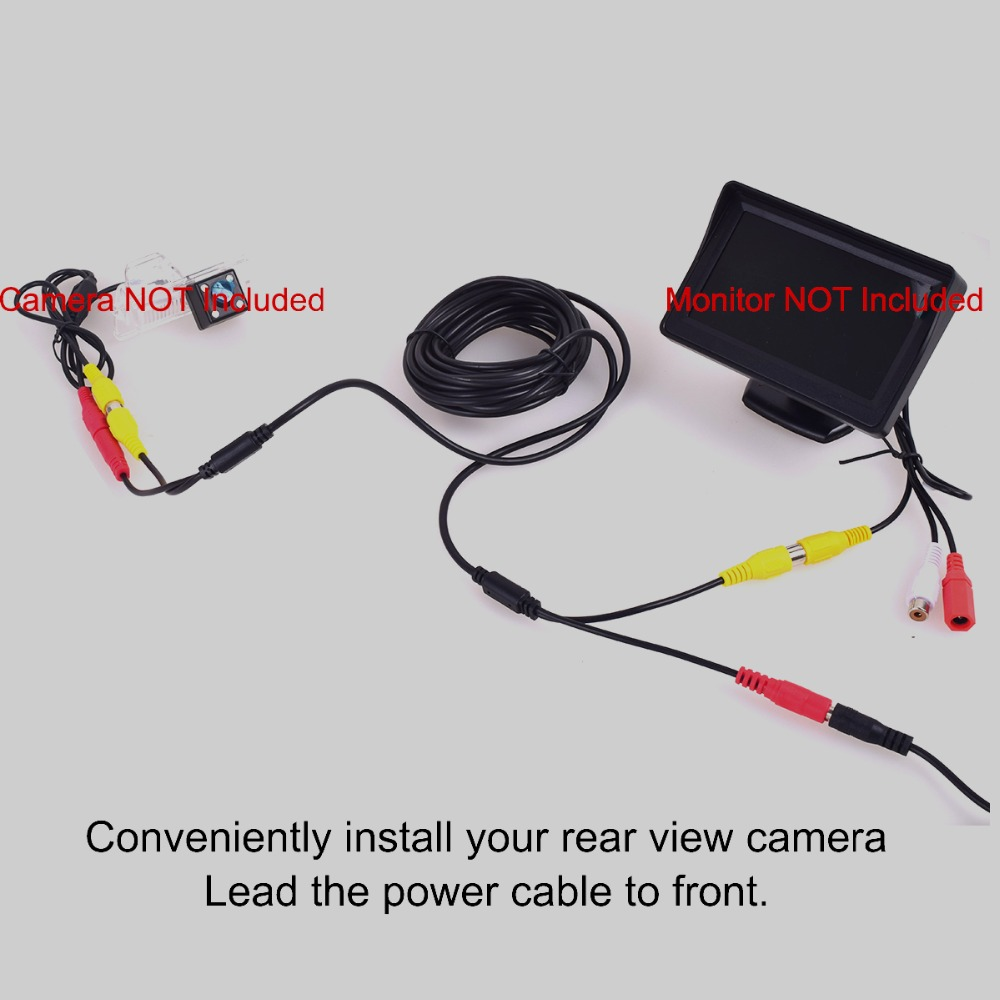 RCA DC Power Audio Video AV Extension Cable For CCTV Security Car Tuck Bus 10 By