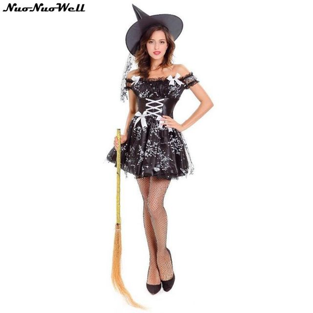 Sexy Adult Witch Costume Halloween Witch Dress Sexy Costumes For Women  Masquerade Carnival Cosplay Party Fancy Dress 1f847de0b48e