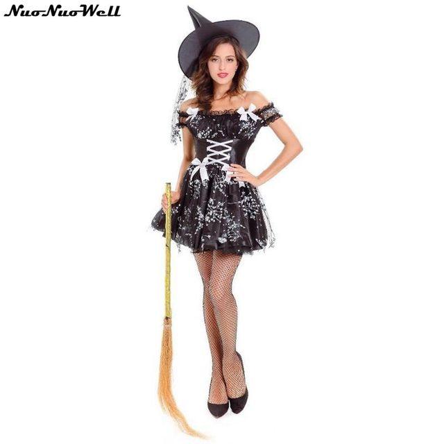 Vestiti Halloween Strega.Us 23 88 38 Di Sconto Sexy Strega Costume Adulto Di Halloween Strega Vestito Costumi Sexy Per Le Donne Di Travestimento Di Carnevale Cosplay Partito