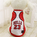 Chicago Bulls Spring Summer Dog Pet Vest Puppy T Shirt Dog Clothes Sportswear soccer jersey