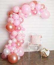 METABLE 100pcs 12/10 INCH Pastel Balloon, Blush, Rose Gold White balloons Decorating Strip Wedding, Anniversary,  no ribbon