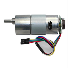 37GB545D DC Gear Motor with Encoder 6V12V24V High Power Torque Motor, Permanent Magnet