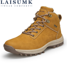 LAISUMK Hot Keep Warm Winter Men Boots High Quality Wear-Resisting Casual Shoes For Male Comfortable Working Fashion