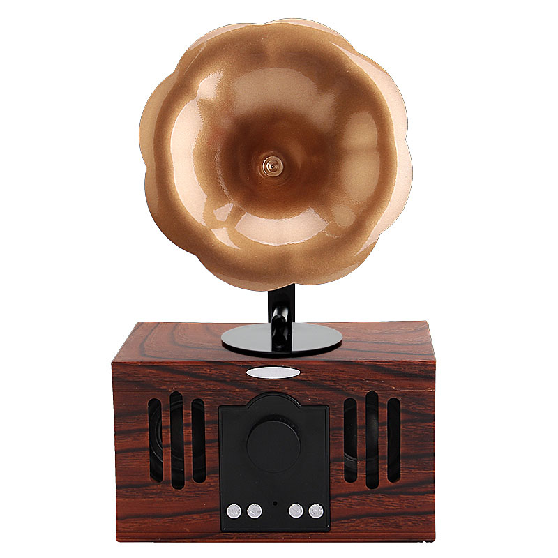 Wood Vintage Wireless Bluetooth Handsfree Fashionable Tabletop Classic Speaker AUX Input +TF Card +USB+Double Channel