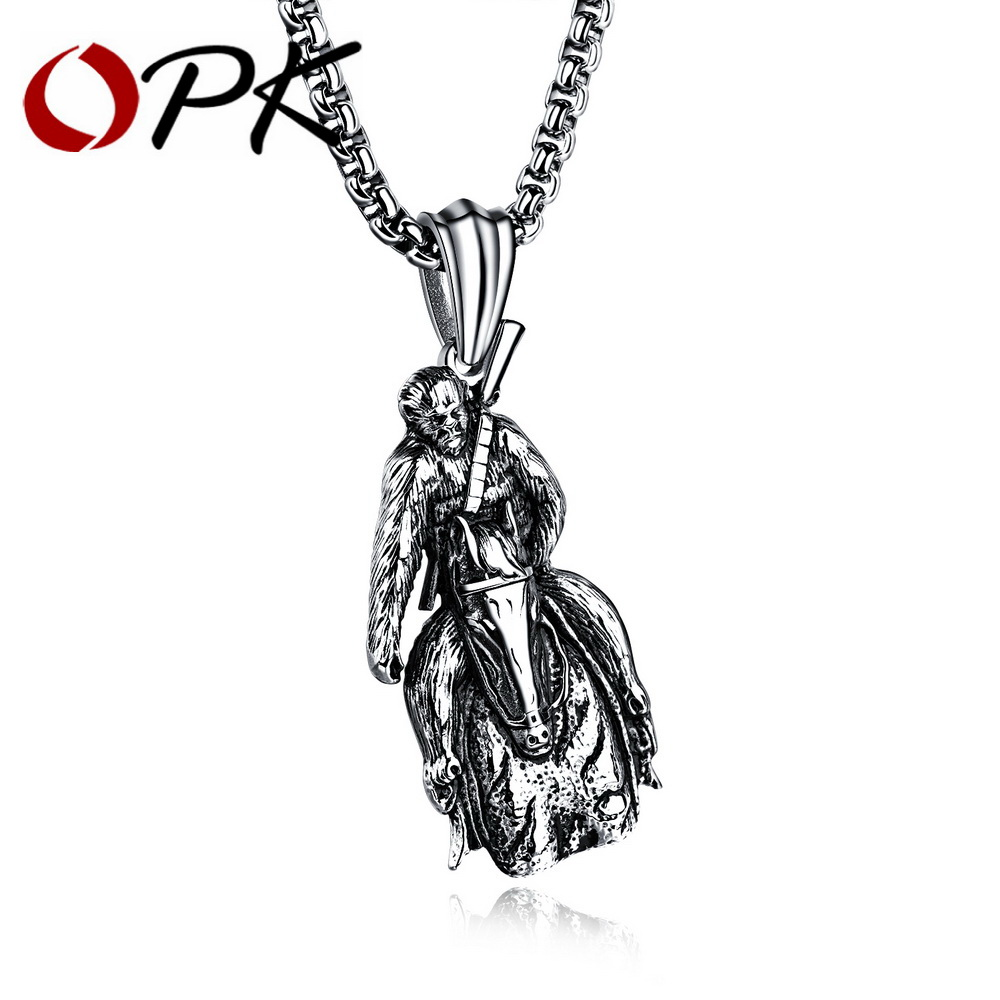 Daesar Stainless Steel Pendant Necklace for Men and Women Simple Vintage Cross Pendant Necklace Chain