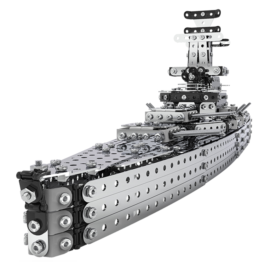 1188Pcs Simulation DIY Stainless Steel Static State Assembly Building Blocks Cruise Ships Boat Model Christmas Gifts 2019