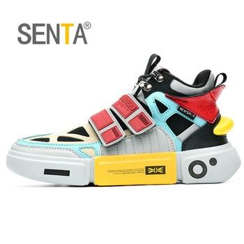 SENTA Fashion Reflective Men's Chunky Hip Hop Men Casual Dad Shoe High Platform Shoes Off Classic Kanye Sneakers Tenis Masculino - sale item Men's Shoes
