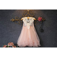 Fashion Kids Clothes Flower Girl Spring Summer Princess Dress Kid Baby FormalParty Wedding Lace Tulle Tutu