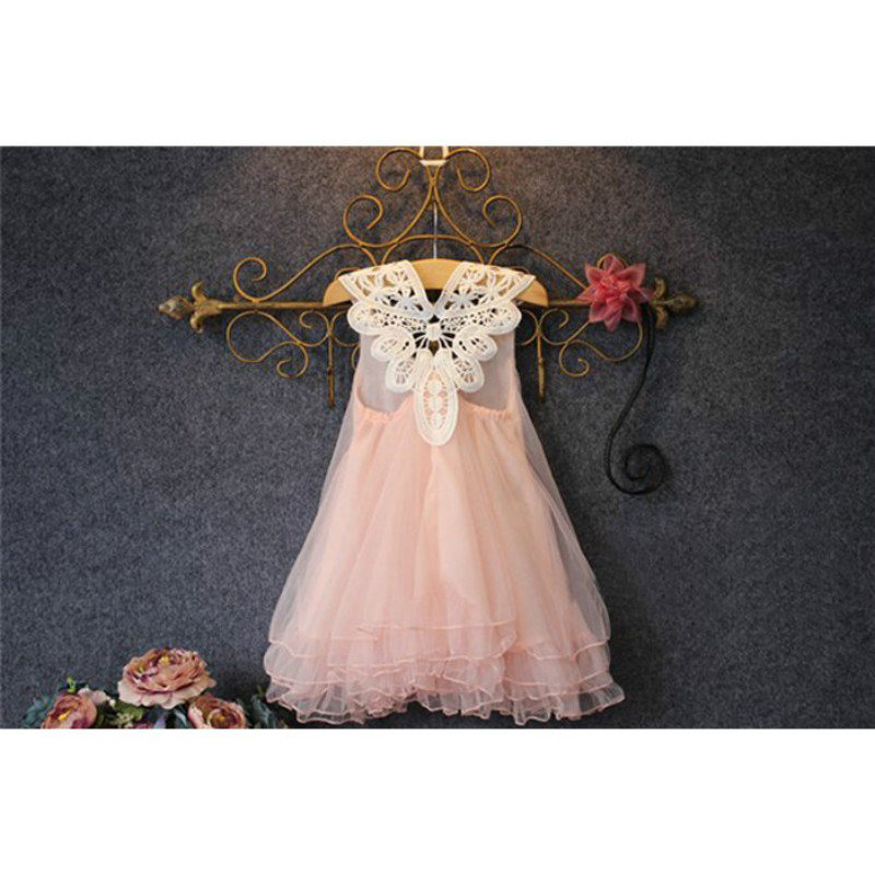 Fashion kids clothes Flower Girl Spring Summer Princess Dress Kid Baby FormalParty Wedding Lace Tulle Tutu Dresses 2017 fashion summer hot sales kid girls princess dress toddler baby party tutu lace bow flower dresses fashion vestido
