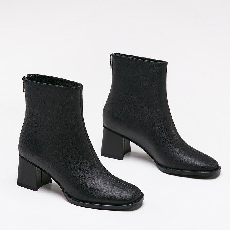 Nouvelle Cuir Marque Cm Talon Bottes Filles Cheville En Mode Sklfcxzy Chaussures Haute noir 100 7 Beige Femmes qwIdSnCxO