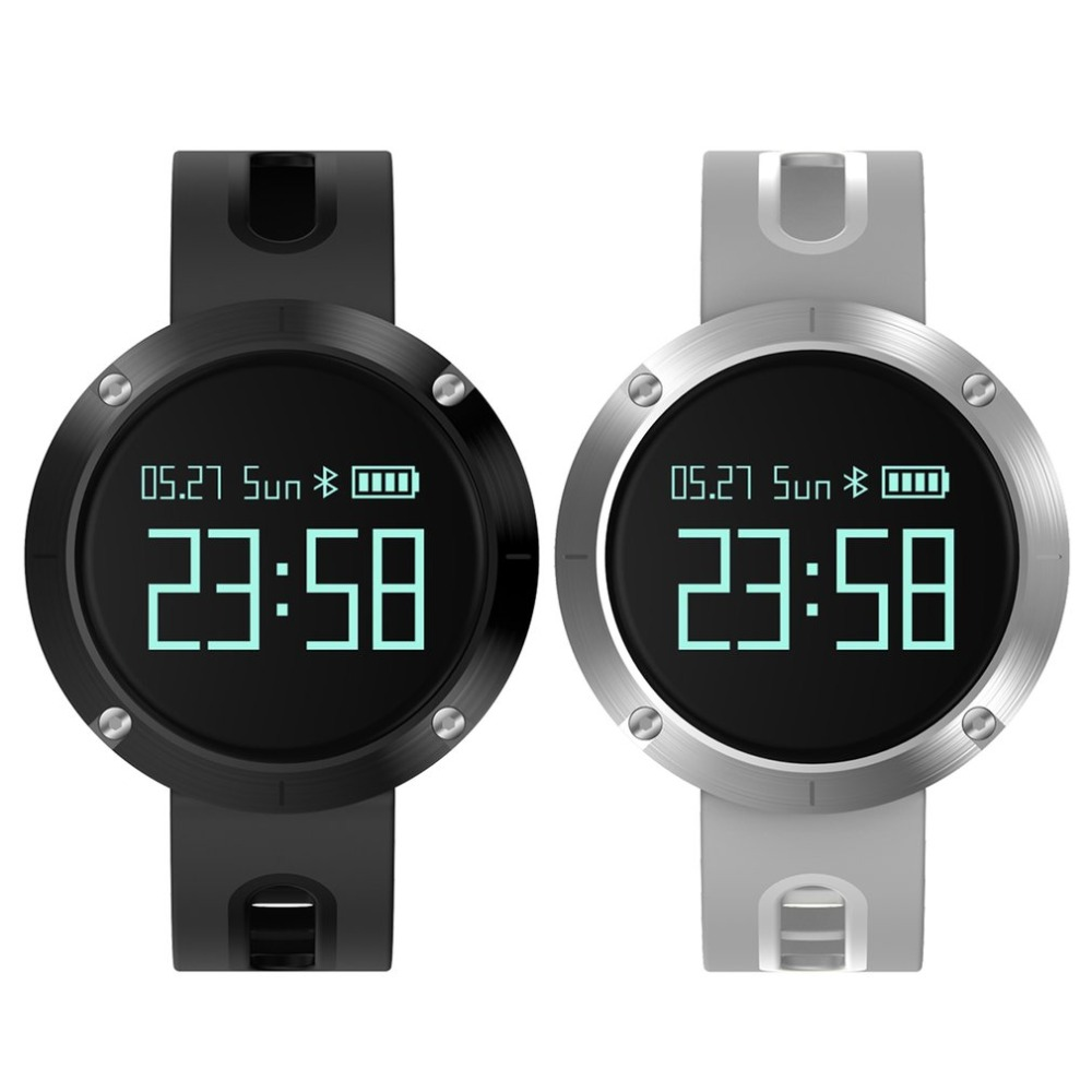 DM58 Silver Smart Watch Sleep Blood Pressure Monitor Pedometer Smart Bracelet IP68 Waterproof Sport Smartwatch for iOS Android