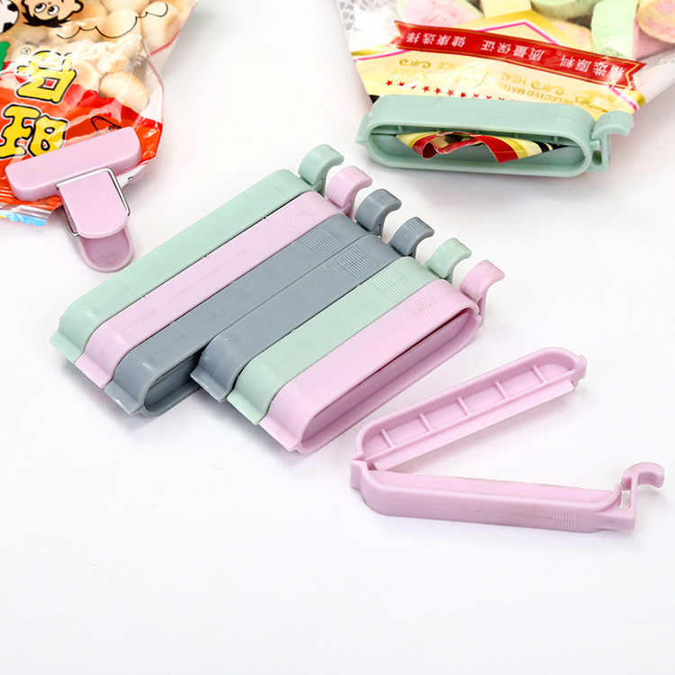 12Pcs/set Bag Clips Snack Fresh Food Storage Bag Sealer Kitchen Tool accessories Mini Vacuum Sealer Clamp Food Clip