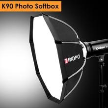 Triopo 90 см фото Bowens крепление портативный открытый Octagon зонтик мягкая коробка с сумкой для студийной видео фотографии софтбокс