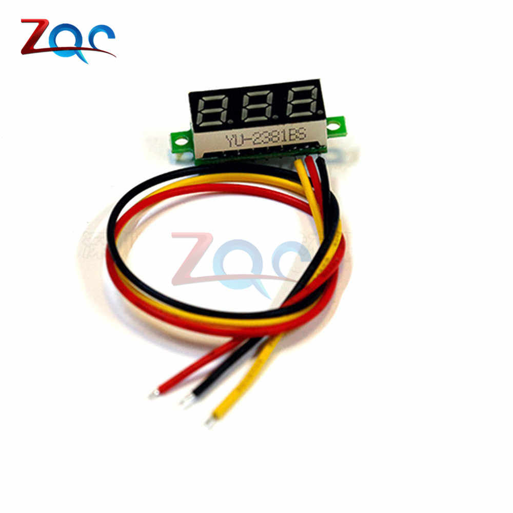 0.28 inch DC 0-100V 3-Wire Mini Gauge voltage meter Voltmeter LED Display Digital Panel Voltmeter Meter Detector Monitor Tools