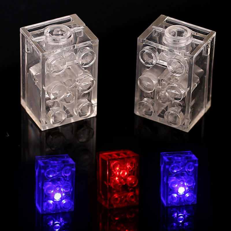 5Pcs DIY Building Blocks Bricks Colorful LED Light-emitting Kids baby funny Compatible block Toys for Children Birthday Gifts