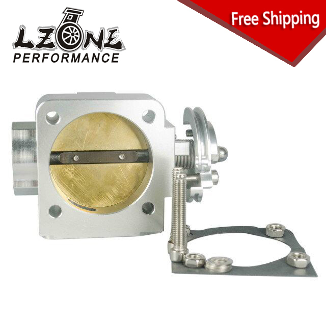 LZONE RACING - FREE SHIPPING NEW THROTTLE BODY For Mitsubishi Evo 4 5 6 70mm Uprated Racing Billet Throttle Body JR6941