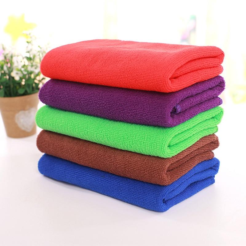 Microfiber Absorbent Drying Bath Towels Washcloth Swimwear Shower Superfine Fiber Piece Face Washer Bath Dry Hair Towel 30x70cm