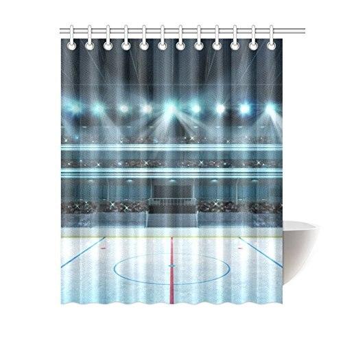 Artsadd Hockey Stadium With Fans Crowd Waterproof Fabric Shower Curtain 60x72 for Bathroom