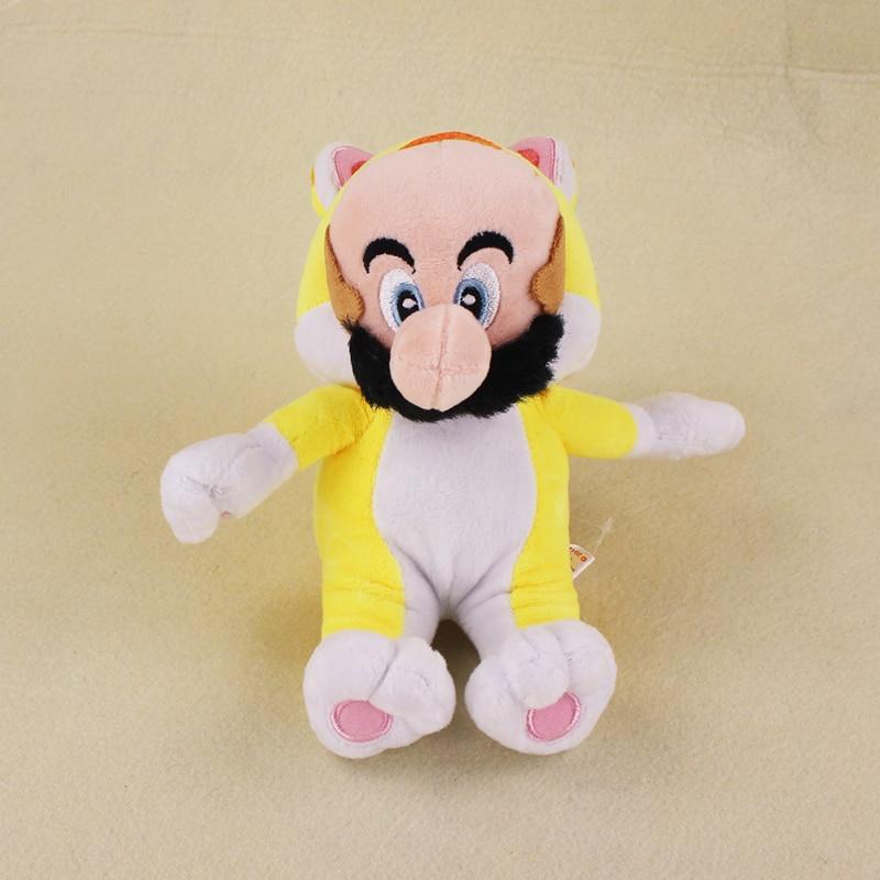 6 15cm Yellow Cat Mario Plush Toy Super Mario 3D World Game Plush Stuffed Doll Kids