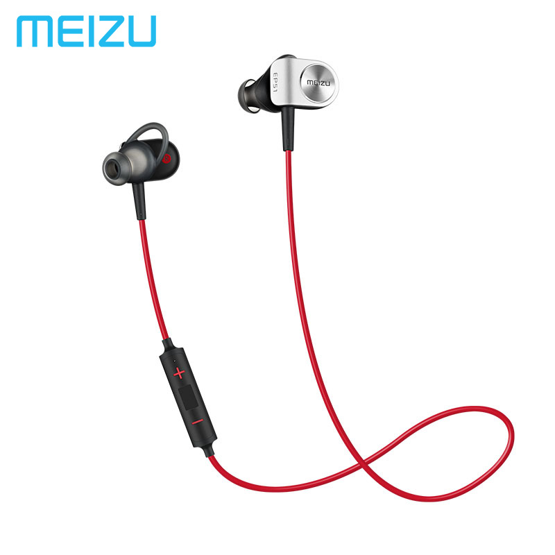 все цены на Meizu EP51 EP52 Wireless Sports Bluetooth4 In-Ear Headphone support aptX Noise Cancelling MIC Aluminium Alloy shell TPE Line онлайн