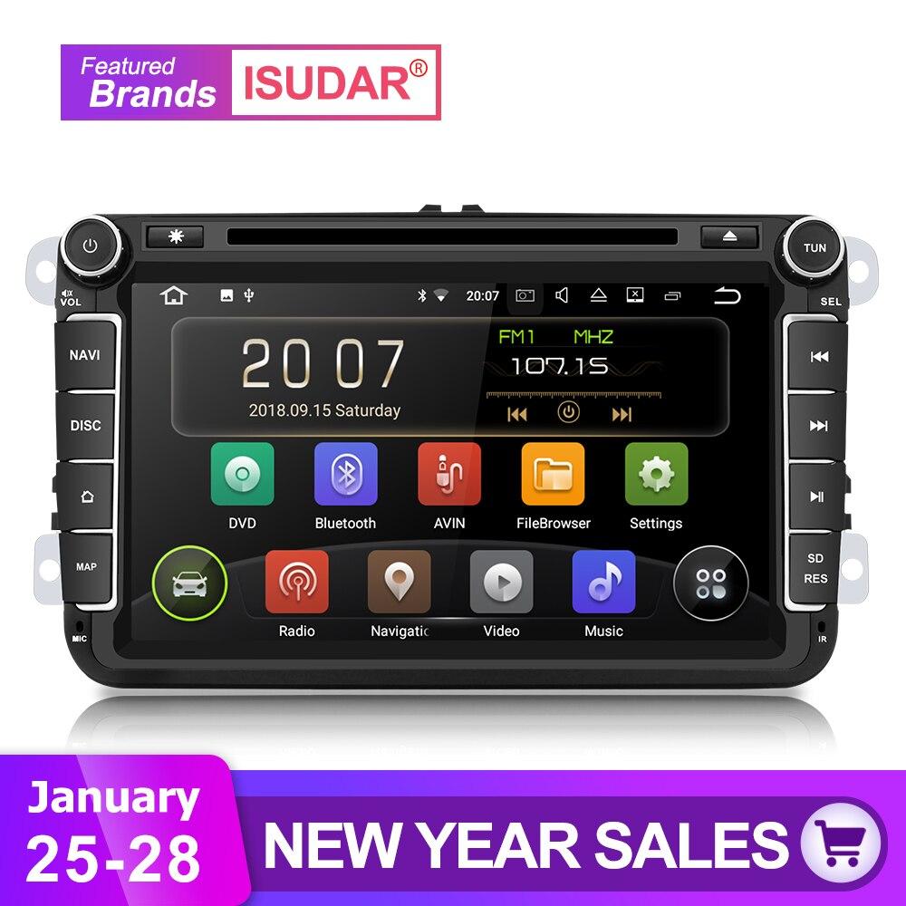 Isudar Voiture Lecteur Multimédia Android 8.1 2 Din Auto DVD Pour Volkswagen/VW/Passat/POLO/GOLF /CC/Skoda/Octavia/Siège/Leon GPS Radio