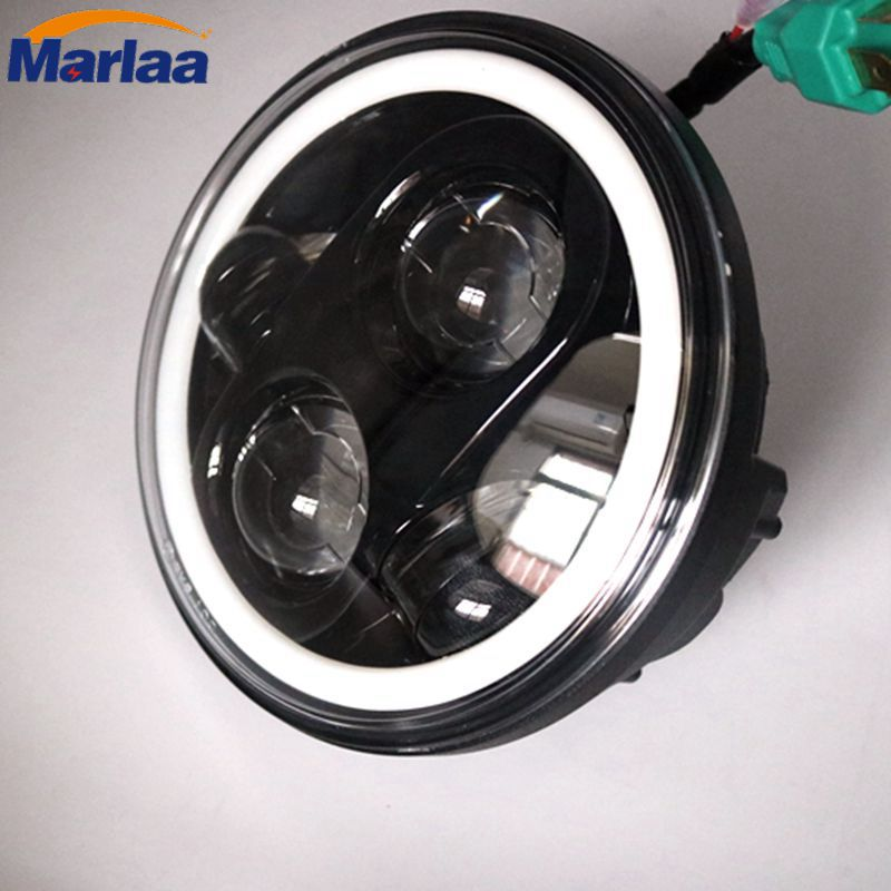 For Harley Sportster and Dyna models and Indian Scout 5 3/4 Inch Daymaker Generation II LED Headlight with White Halo Ring scout easy ii exclusiv