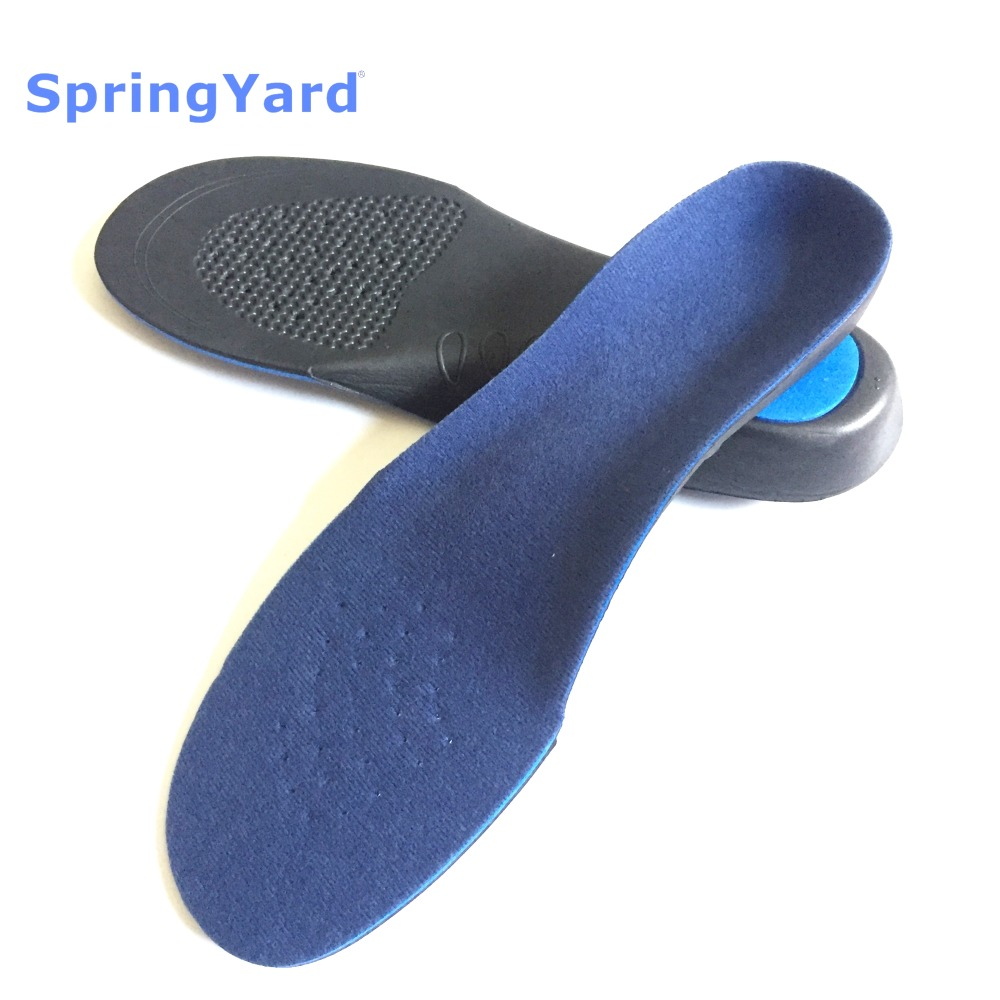 SpringYard EVA Adult Flat Foot Arch Support Orthotics Full Pad Orthopedic Insoles For Shoes Men Women