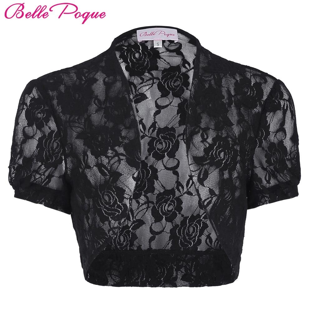 4b61ccc1c Short Sleeve Women Jacket 2017 Womens Ladies Cropped Shrug Black White  Extra Short Open Stitch New Fashion Lace Bolero Outerwear