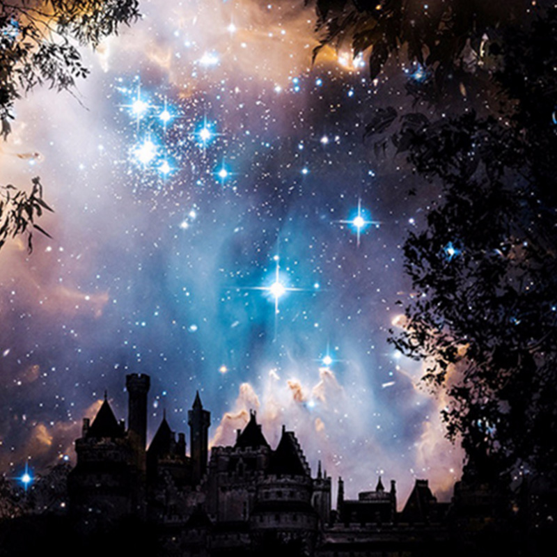 Romantic Stars Sky Diamond Paintings Cross Stitch Wall Art