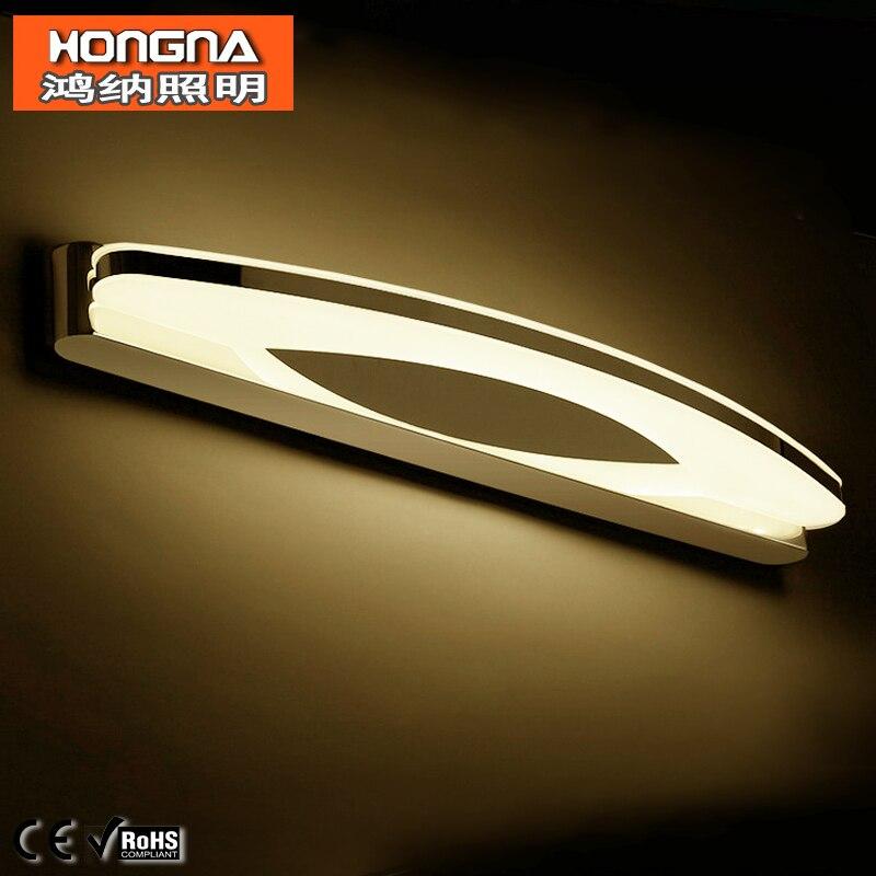 ФОТО AC110V/220V High Quality 12W LED Mirror Light Stainless Steel Bathroom Bedroom Dressing Wall Lamp LED Wall Light