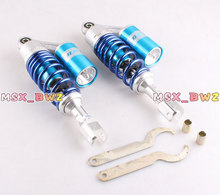 11″280mm 2  Pieces Rear Air Shock Absorbers Clevis Scooter Moped Quad ATV Gokart Blue Color Motorcycle Accessories