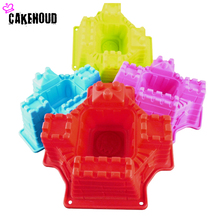 1PCS Beautiful 3D Cartoon City Wall Cake Mold DIY Fondant Bread Chocolate Cake Decorating Tools Kitchen Accessories Pastry Tool