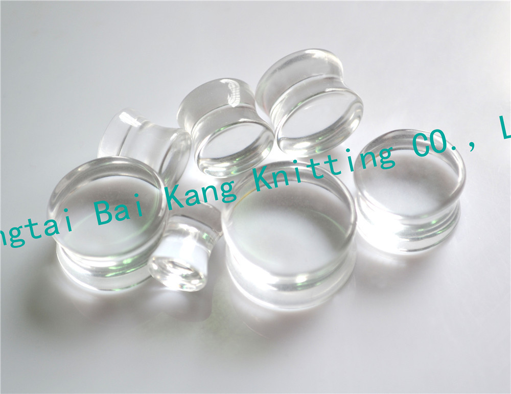 1PAIR 8~30mm Clear Transparent Sexy Ear Plugs Acrylic Flesh Tunnel Fashion Ear Expander Body piercing Stretcher Flared Earring ...