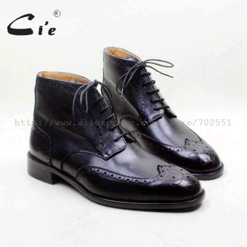 cie Round Toe Full Brogues Handmade Lace-up 100 Genuine Calf Leather Breathable Bottom Outsole Men's Boot Bespoke Custom A150