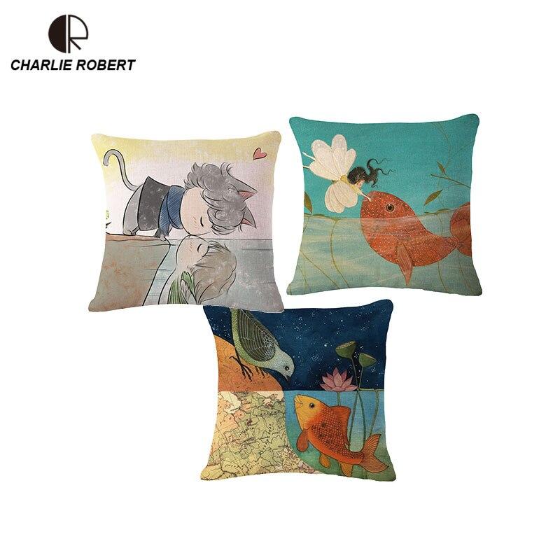 ⃝Beso inicio asiento trasero Cojines vintage decorativo Mantas ...