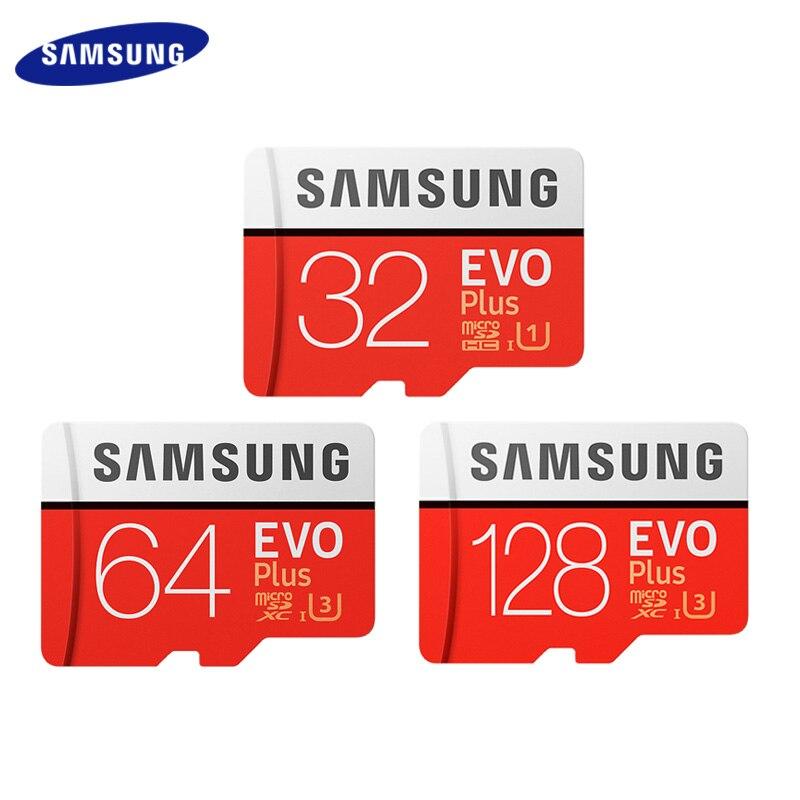 מקורי סמסונג כיתה EVO + Class 10 זיכרון כרטיס 32 gb 64 gb 128 gb מיקרו SD כרטיס 256 gb SDHC SDXC C10 UHS TF כרטיס Trans פלאש