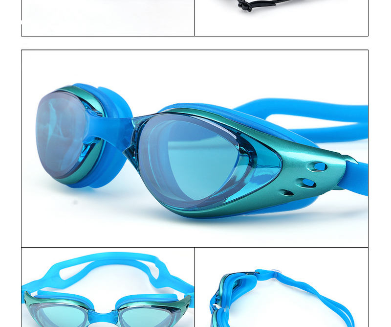 Swimming Goggles For Myopia Men And Women Anti-Fog Waterproof Silicone Swimming glasses 12