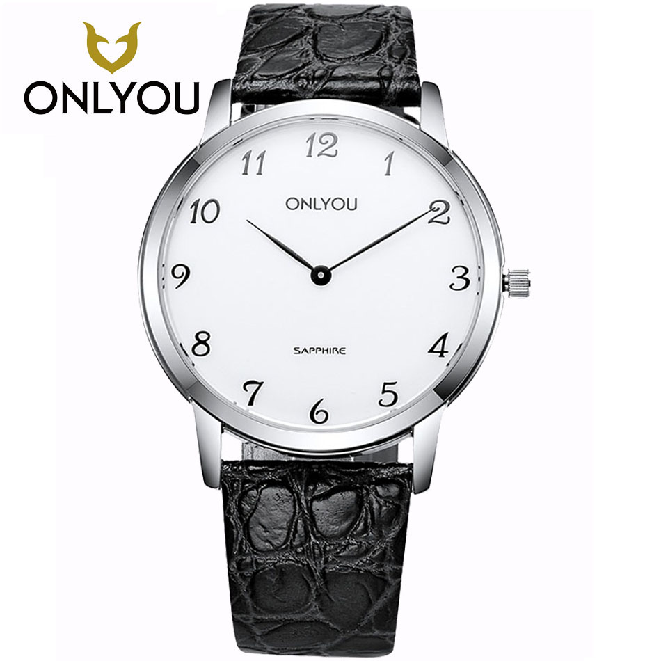 ONLYOU Gift Clock Wristwatch Women Men's Watches Fashion Leisure Watch 5Bar Waterproof Luxury Brand Quartz Female Watches